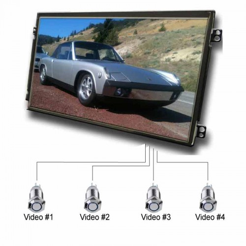 7Inch LCD AD Player with Push Button Activation. High Grade IPS Panel