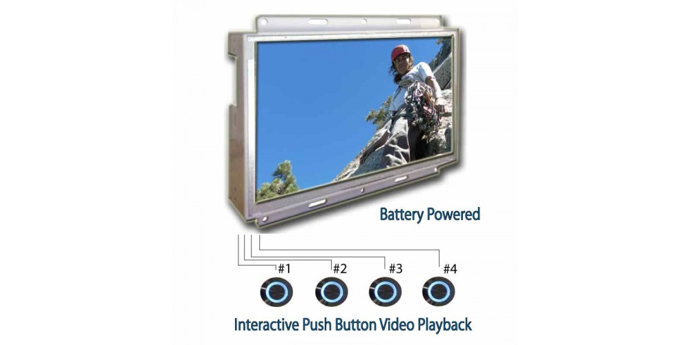 Battery Powered In-Store LCD Ad Player